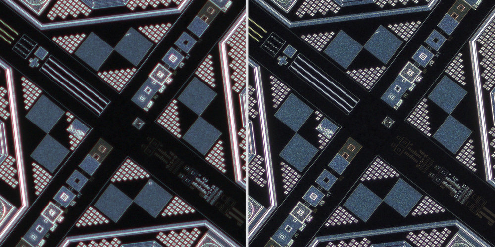Canon MP-E 65mm f/2.8 1-5x Macro Photo lens vs Sigma 150 f2.8 OS + Xenon 28mm f2 Line Scan Lens 100% Center Crops