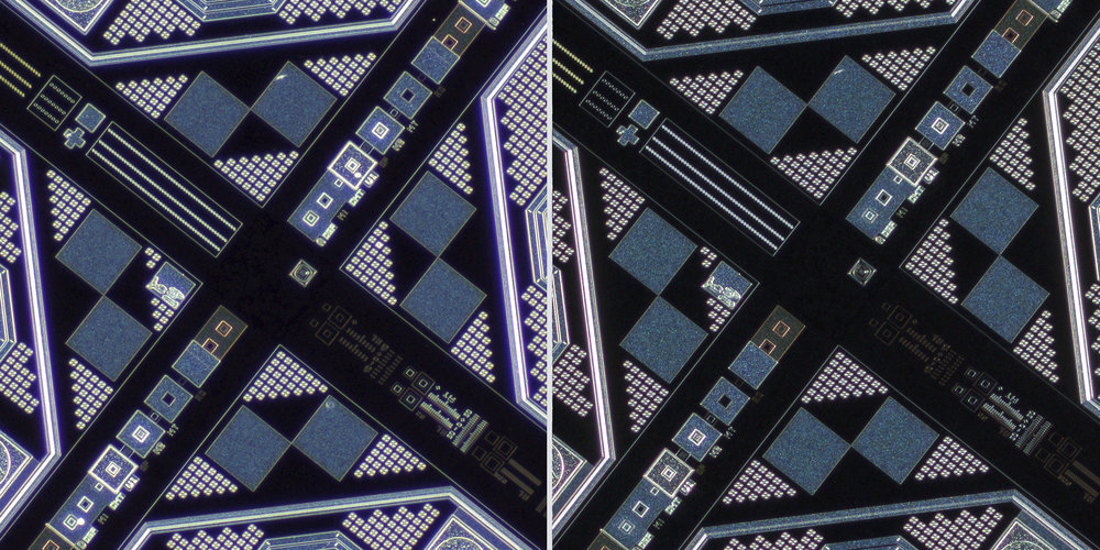 Nikon MM 5x-A EDF20052 TM objective lens vs Sigma 150 f2.8 OS + Xenon 28mm f2 Line Scan Lens 100% Center Crops