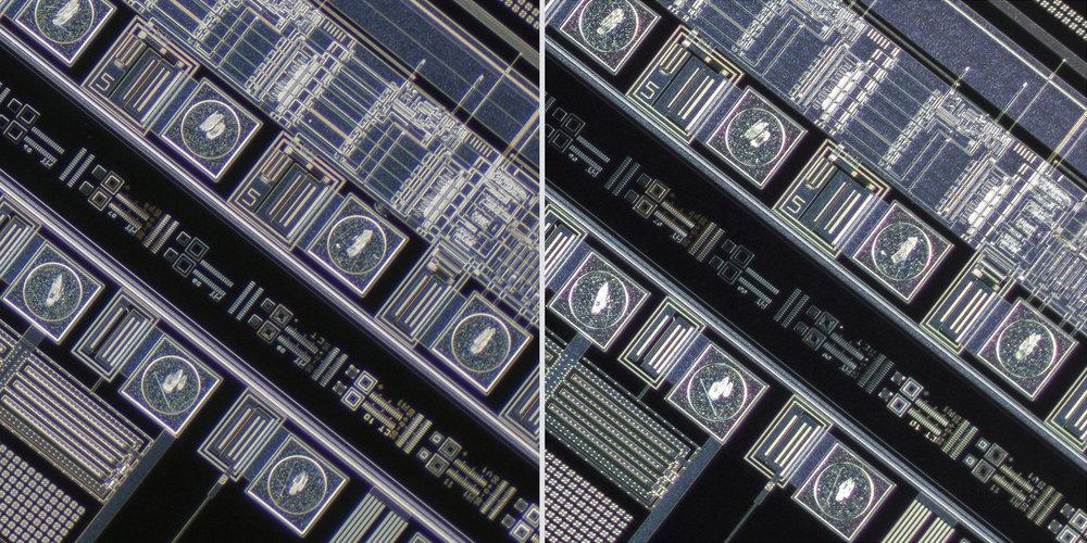 Olympus MPlan FL N 5x 0.15 Semi-Apochromat Objective vs Sigma 150 f2.8 OS + Xenon 28mm f2 Line Scan Lens 100% Corner Crops