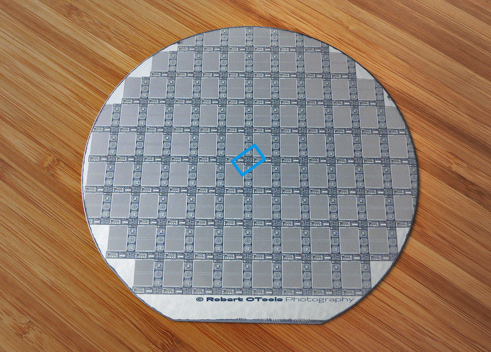 This is the 6 inch silicon wafer used in this test.
