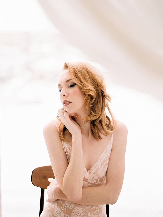 Flirty Boudoir by #KristinLaVoiePhotography // Featured on #BoudoirCollective