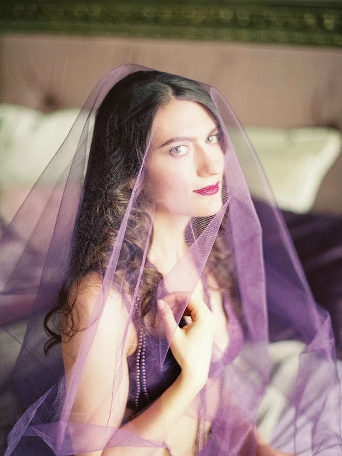 Lush Purple Boudoir by #OlgaPlakitinaPhotography // Featured on #BoudoirCollective