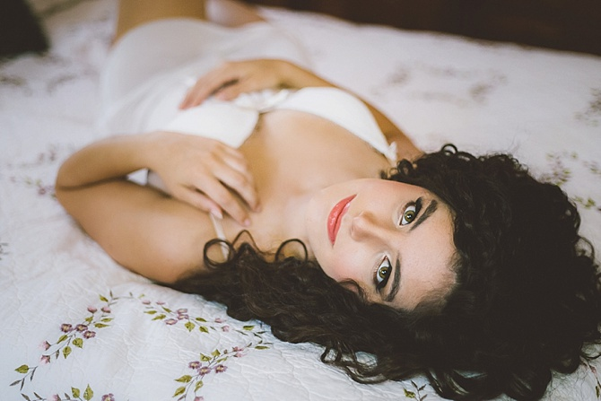 Rustic Bridal Boudoir by Darin Crofton Photography // Featured on Boudoir Collective