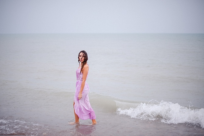 Rainy Beach Boudoir by Roots of Life Photography // Featured on Boudoir Collective