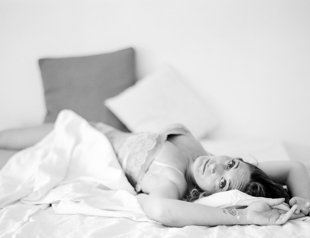 Moody In-Home Fine Art Boudoir on Film