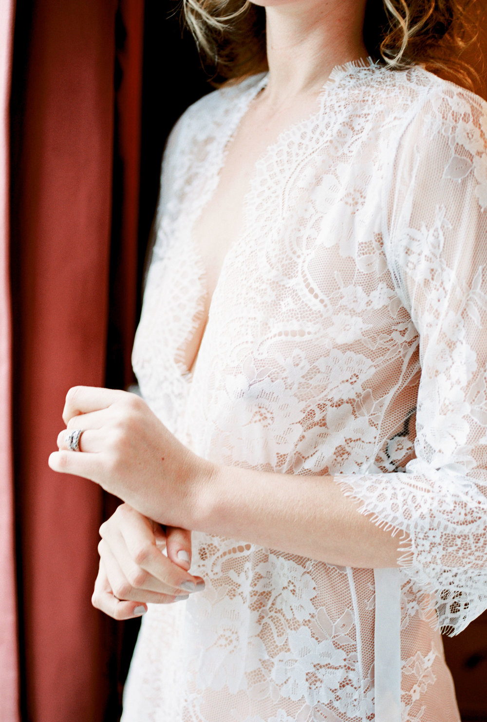Romantic Delicate Bridal Boudoir by Michelle Lea Photography // Boudoir Collective