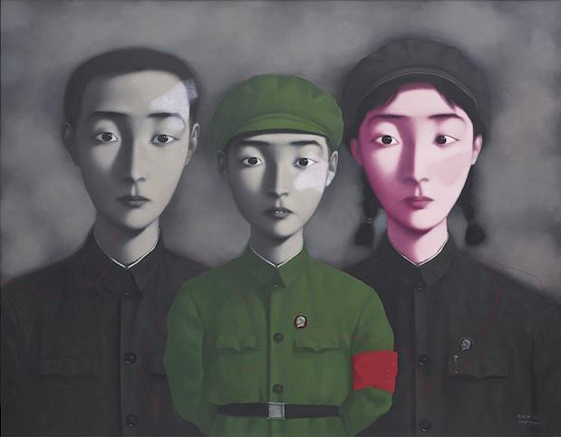 Zhang Xiaogang's  Bloodline: Big Family No 3.  Auctioned at Sotheby's HK in April 2014 for a hammer price of US$10,698,699