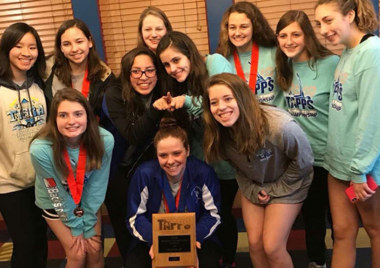 10/13 GIRLS SWIM FINISHES 4TH OVERALL AT ASID INVITE!! -