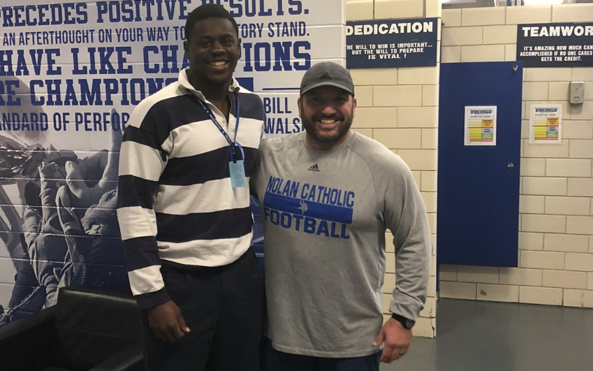 Notre Dame Commit NaNa Osafo-Mensah Leading The Way For Nolan Catholic - Full Article