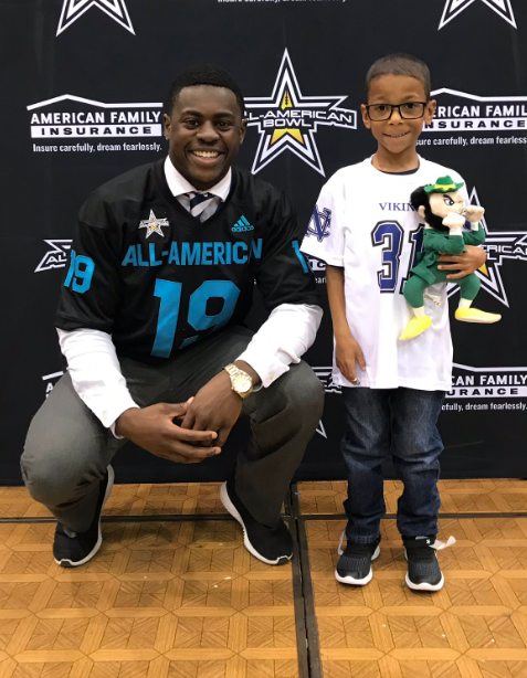 Nolan Catholic 4-star defensive end has a unique relationship with 7-year-old fan. - Full Article