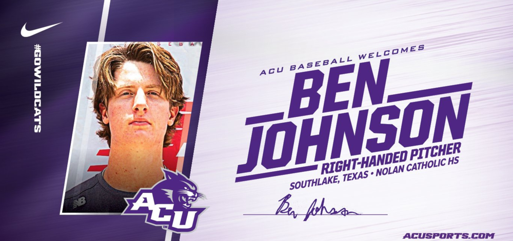 SENIOR BASEBALL PLAYER BEN JOHNSON IS ALL SET TO ATTEND AND PLAY BASEBALL AT ABILINE CHRISTIAN UNIVERSITY NEXT YEAR! - #NextLevelVikings