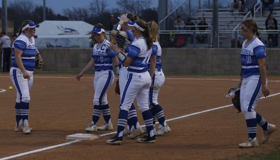 3/27 SOFTBALL TAKES DOWN ALL SAINTS IN EXTRA INNINGS, 15-12! -