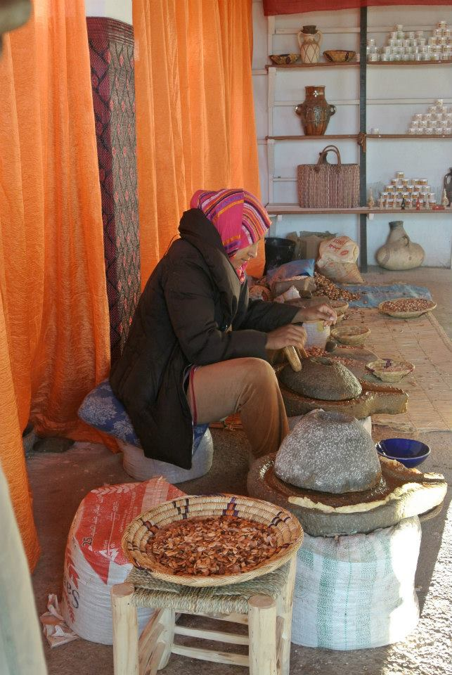 Met some lovely ladies making Moroccan oil at a women's co-op on the way back to Marrakech from the Sahara Dessert. I always feel a little weird taking photos of strangers as it seems a bit invasive?  Don't worry.  I asked them first :)
