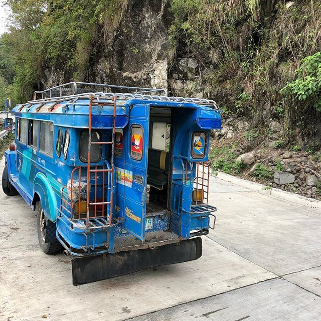Just watch out for the mudslides and falling rocks 😬 . . . . . . . #itsmorefuninthephilippines #philippines #banaue #banauericeterraces #riceterraces #jeepney