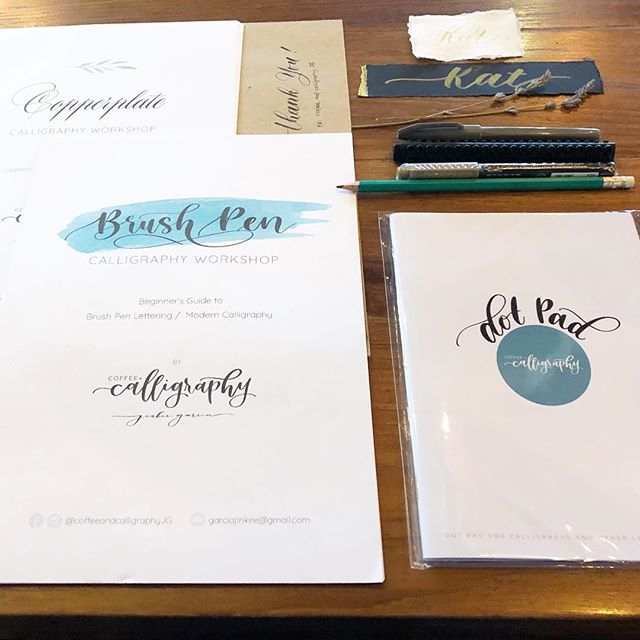 Last week's private workshop with @coffeeandcalligraphyjg!! Thanks so much. Ating kung bayu kaluguran! . . . . . #itsmorefuninthephilippines #motherland #philippines #pampanga #kapampangan #calligraphy #calligraphyworkshop #brushlettering #copperplate