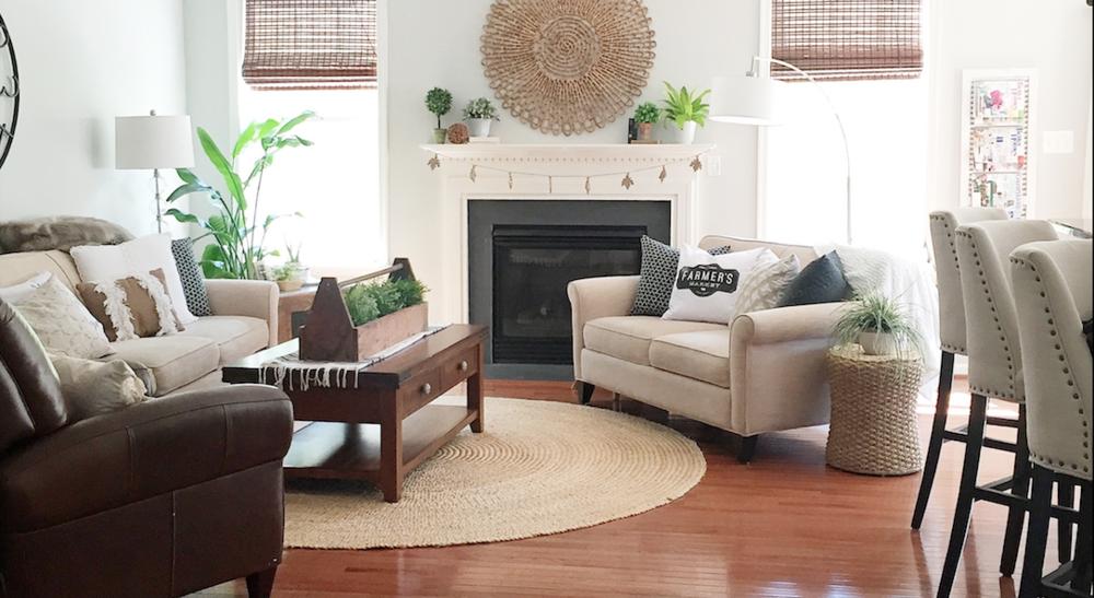 Rug:  Potterybarn ; Wall decor:  Homegoods ;Wall color:  SW Colonade Gray