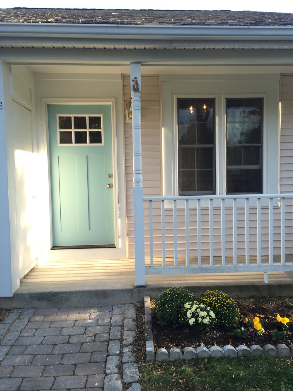 Painted front door to add cottage charm