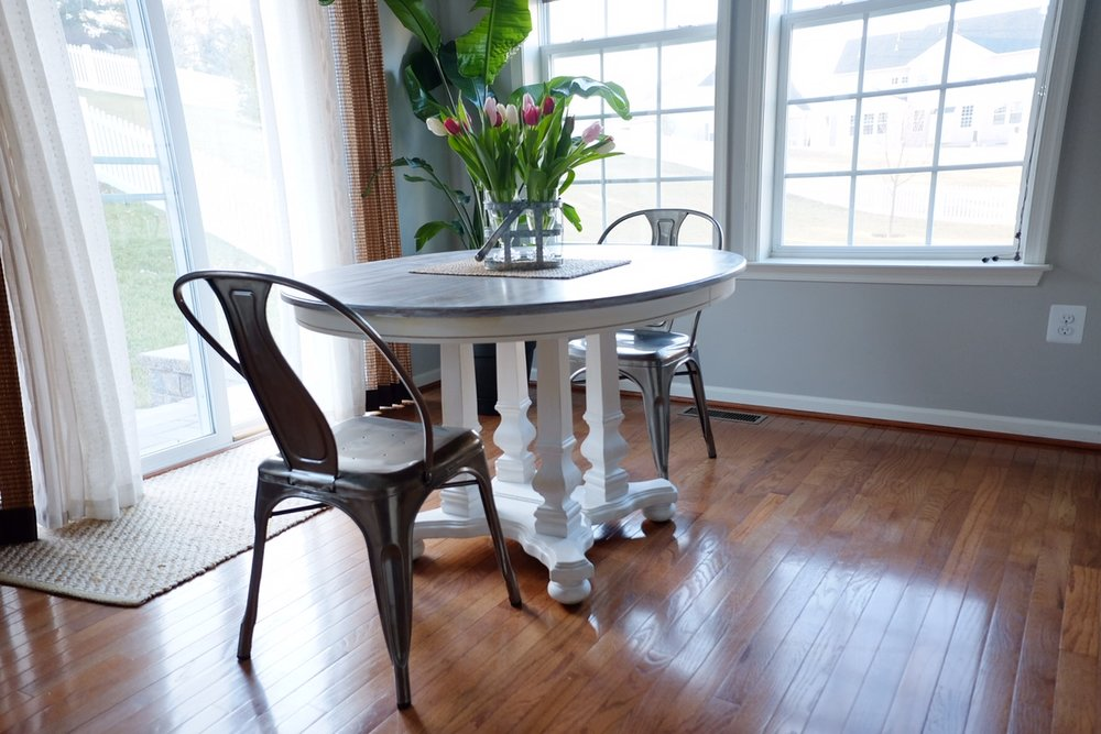 Revamp a table using homemade chalk paint.