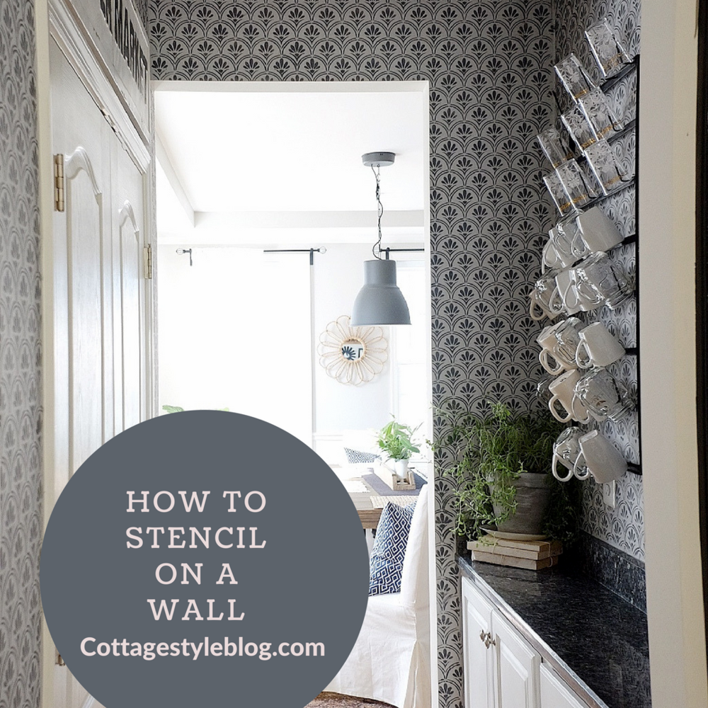 How to stencil on a wall cottage style blog how to stencil on a wall amipublicfo Gallery