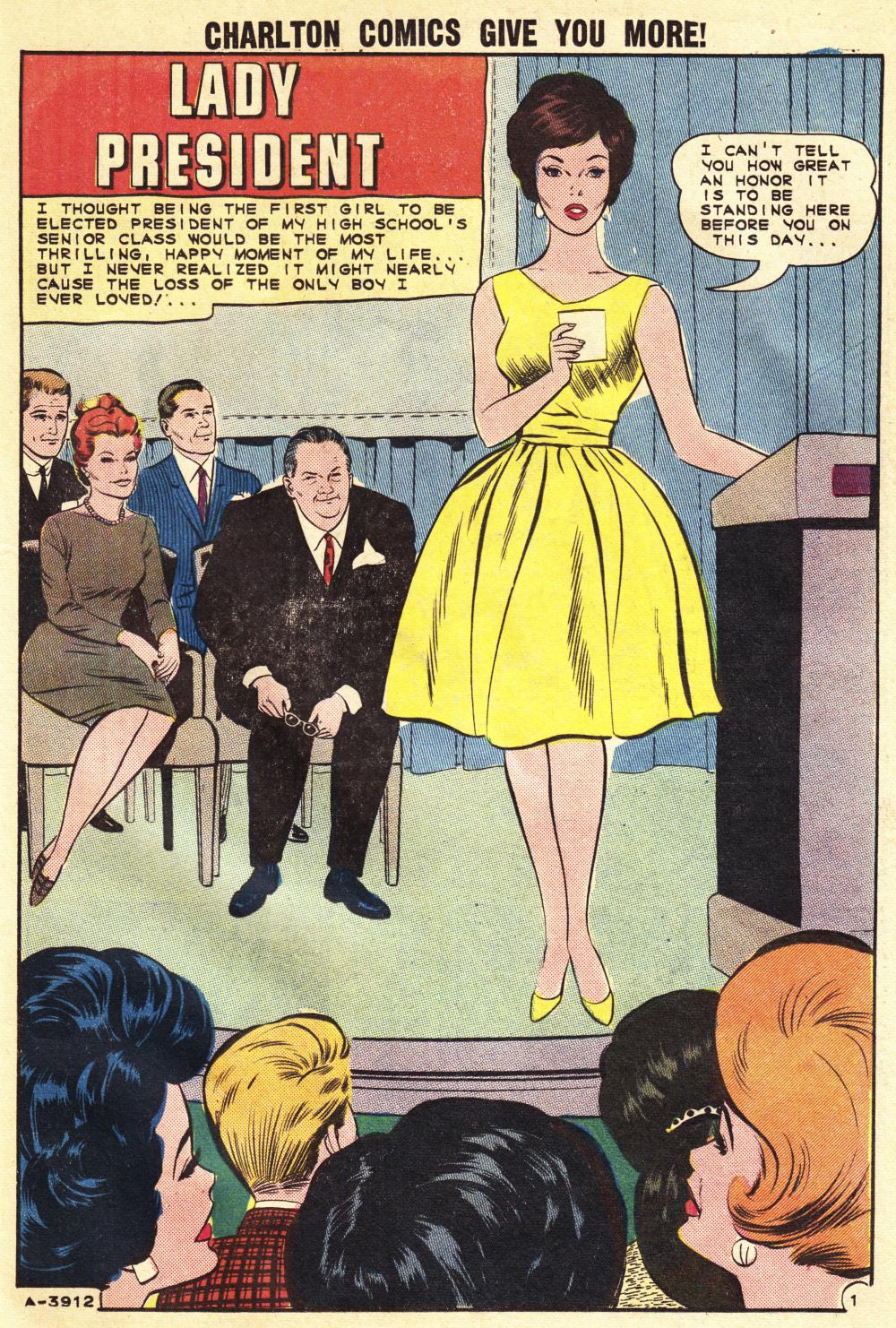 Woman President Romance Comic Book Sweethearts #79 (1964)