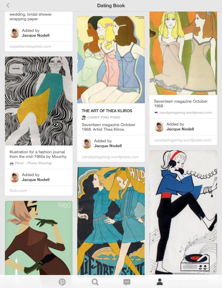 Along with the romance comics themselves, we used Pinterest to keep track of ideas and inspiration.