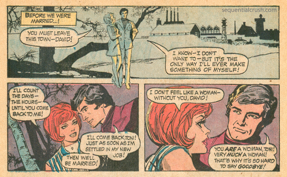 Romance comic book story by Tony DeZuniga
