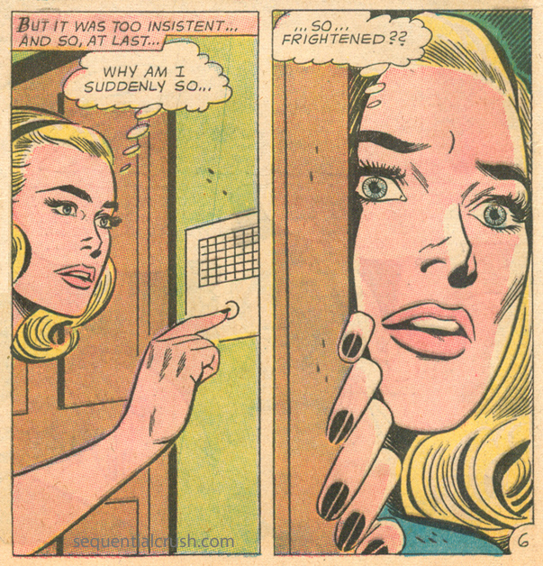 """Leave Me Alone""  Falling in Love  #60 (July 1963) Art by Bernard Sachs"