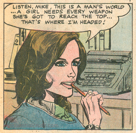"""I Won All the Battles... and Lost the War!""  Career Girl Romances  #74 (April 1973) Pencils: A. Martinez, Inks: J. Zuniga"