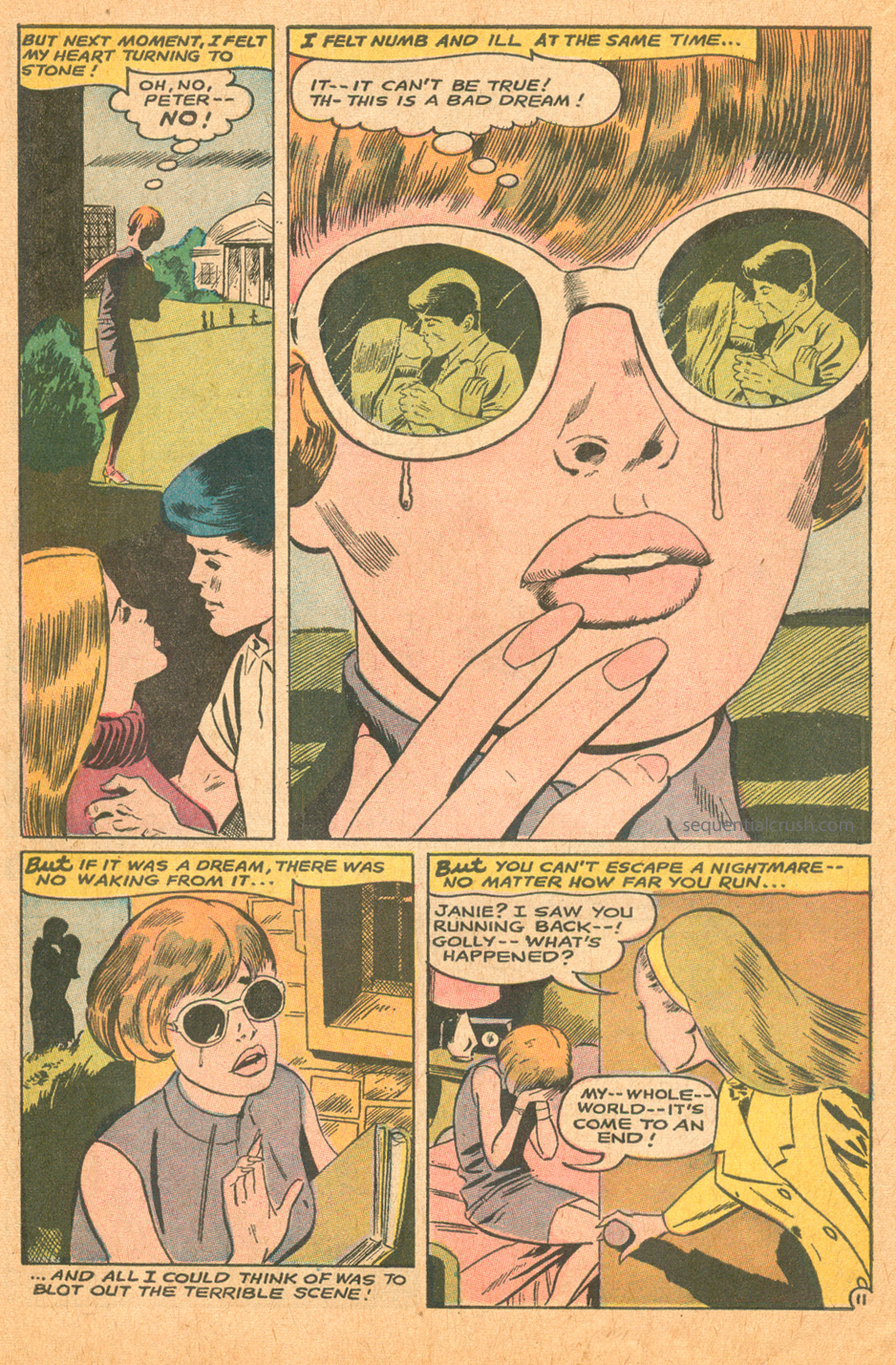 Iconic romance comic book reflection in sunglasses cover Jay Scott Pike