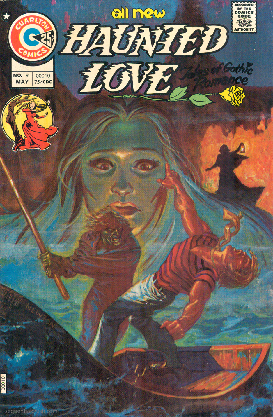 Charlton Comics Gothic Romance Comic Book Haunted Love #9