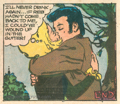 Romance comic books and serious issues alcoholism Charlton comics