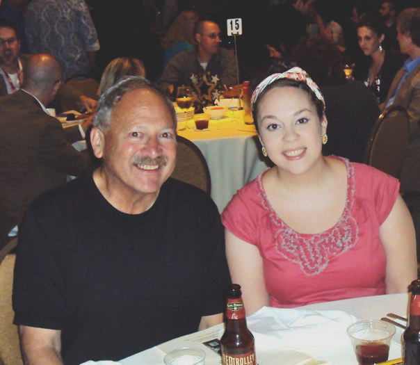 With my dad at the 2011 Eisner Awards, the last time I attended San Diego Comic-Con International.