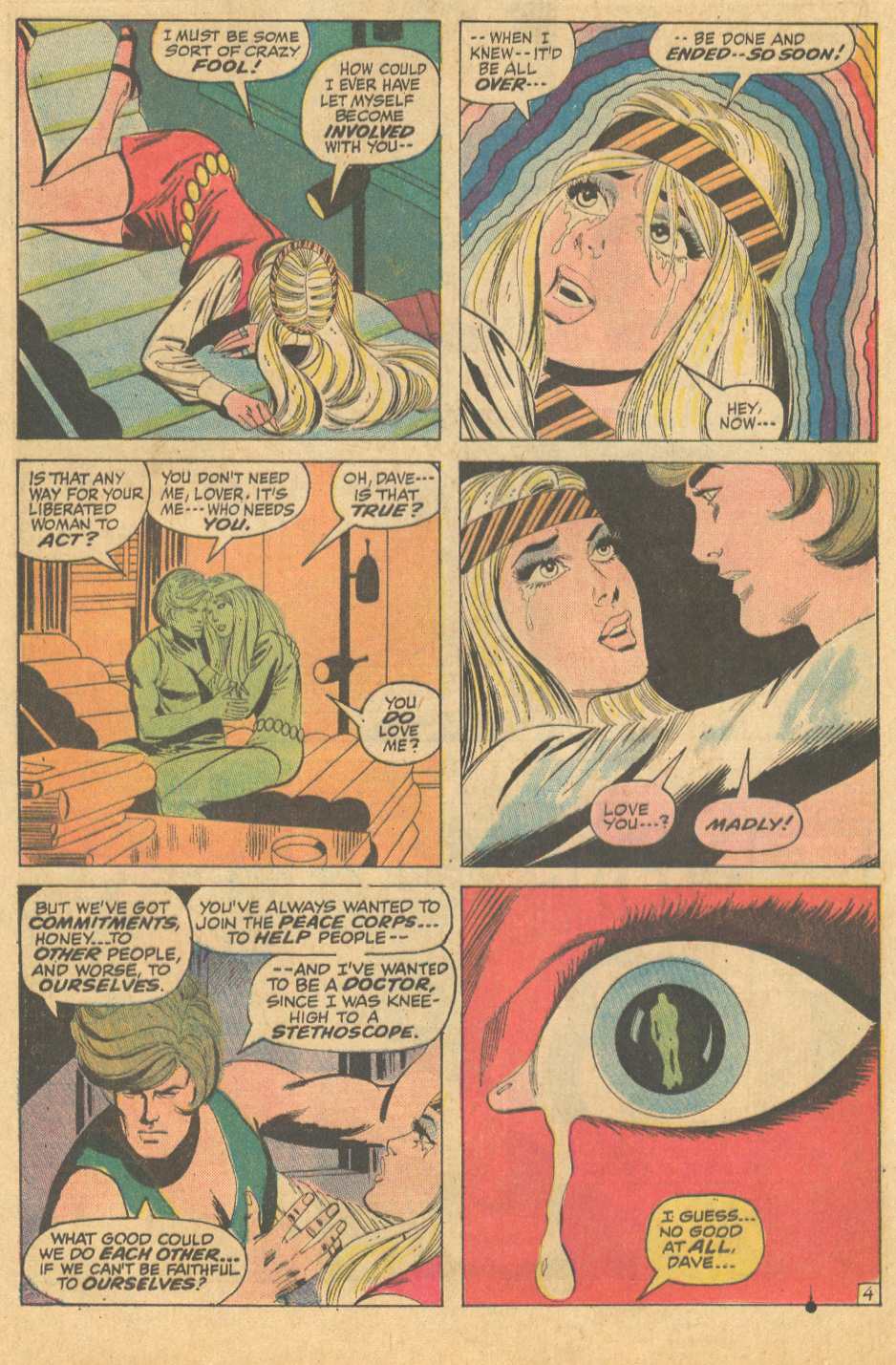 """ One Fleeting Moment..! ""  Our Love Story  #15 (February 1972) Pencils by Steve Englehart"