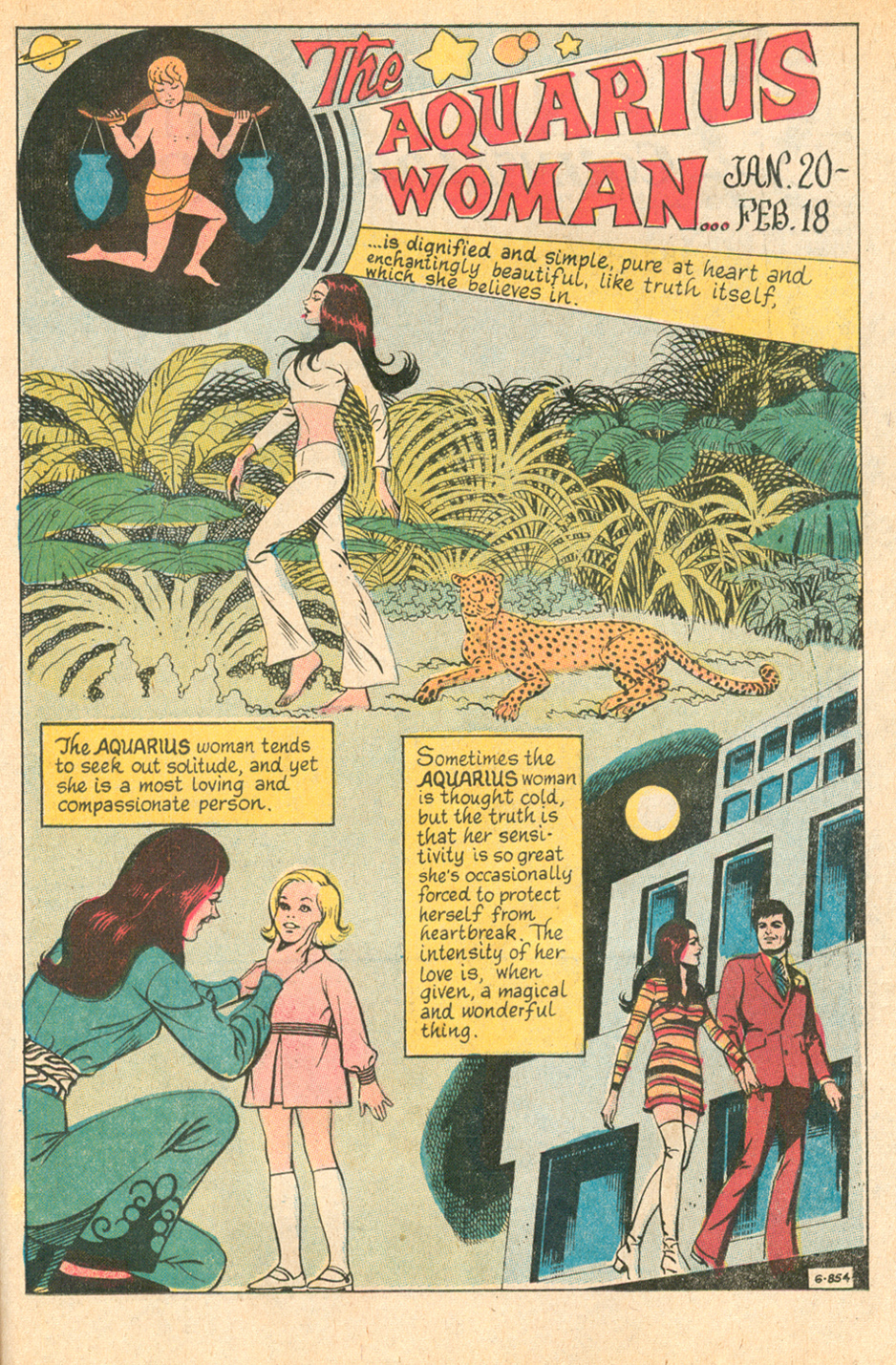 """The Aquarius Woman""  Secret Hearts  #150 (March 1971)"