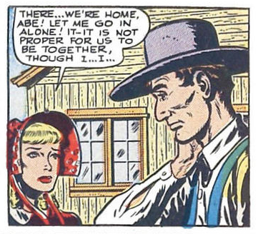 Don't get me wrong. I love the bell-bottoms and polyester stylings of the '60s and '70s romances, but a prairie bonnet in a romance comic? Sign me up !