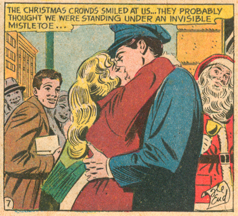 """Look the Other Way!""   Secret Hearts  #85 (January 1963),  Pencils: Mike Sekowsky, Inks: Bernard Sachs"