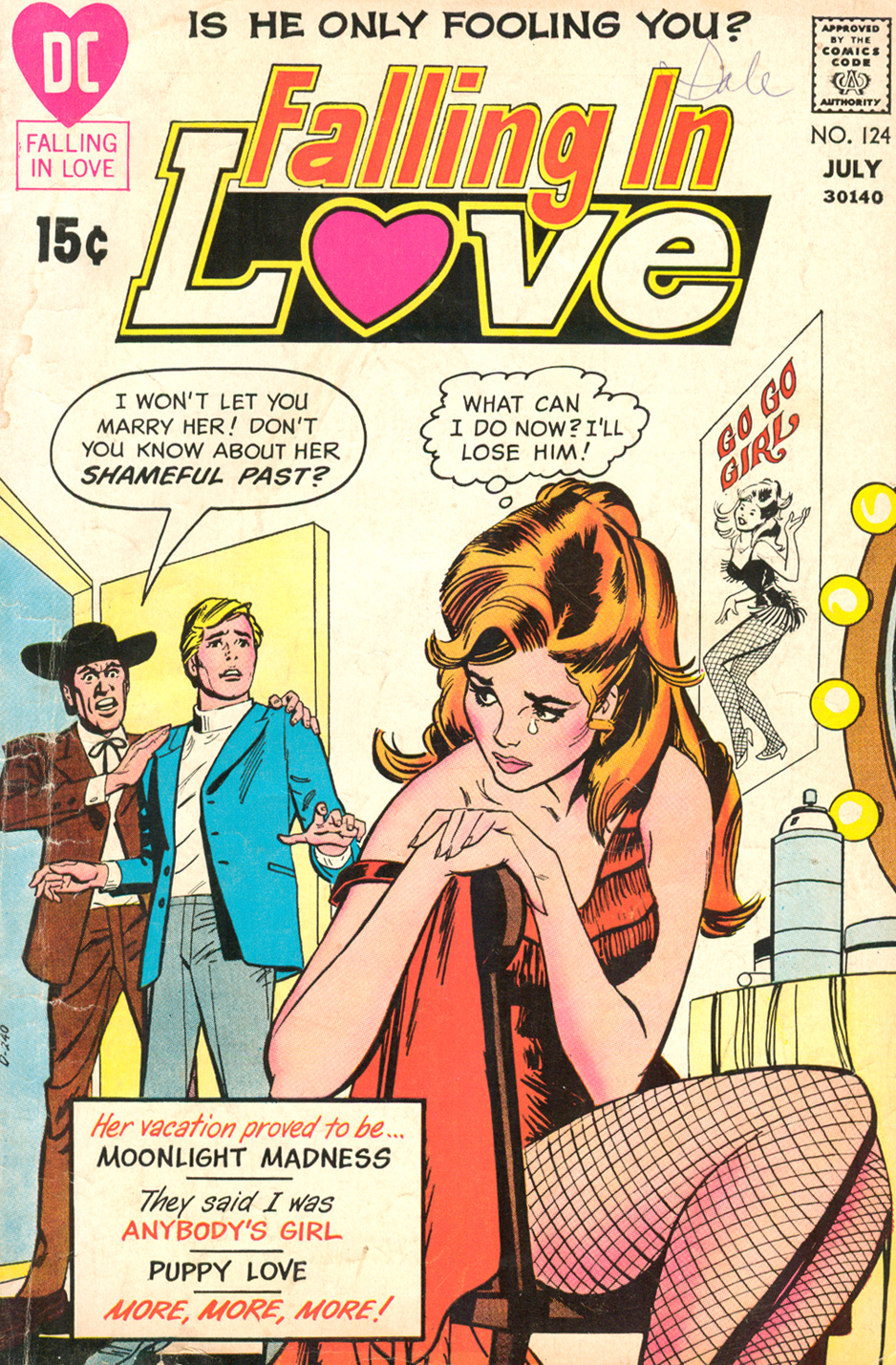 Cover by Bob Oksner  Falling in Love  #124 (July 1971)