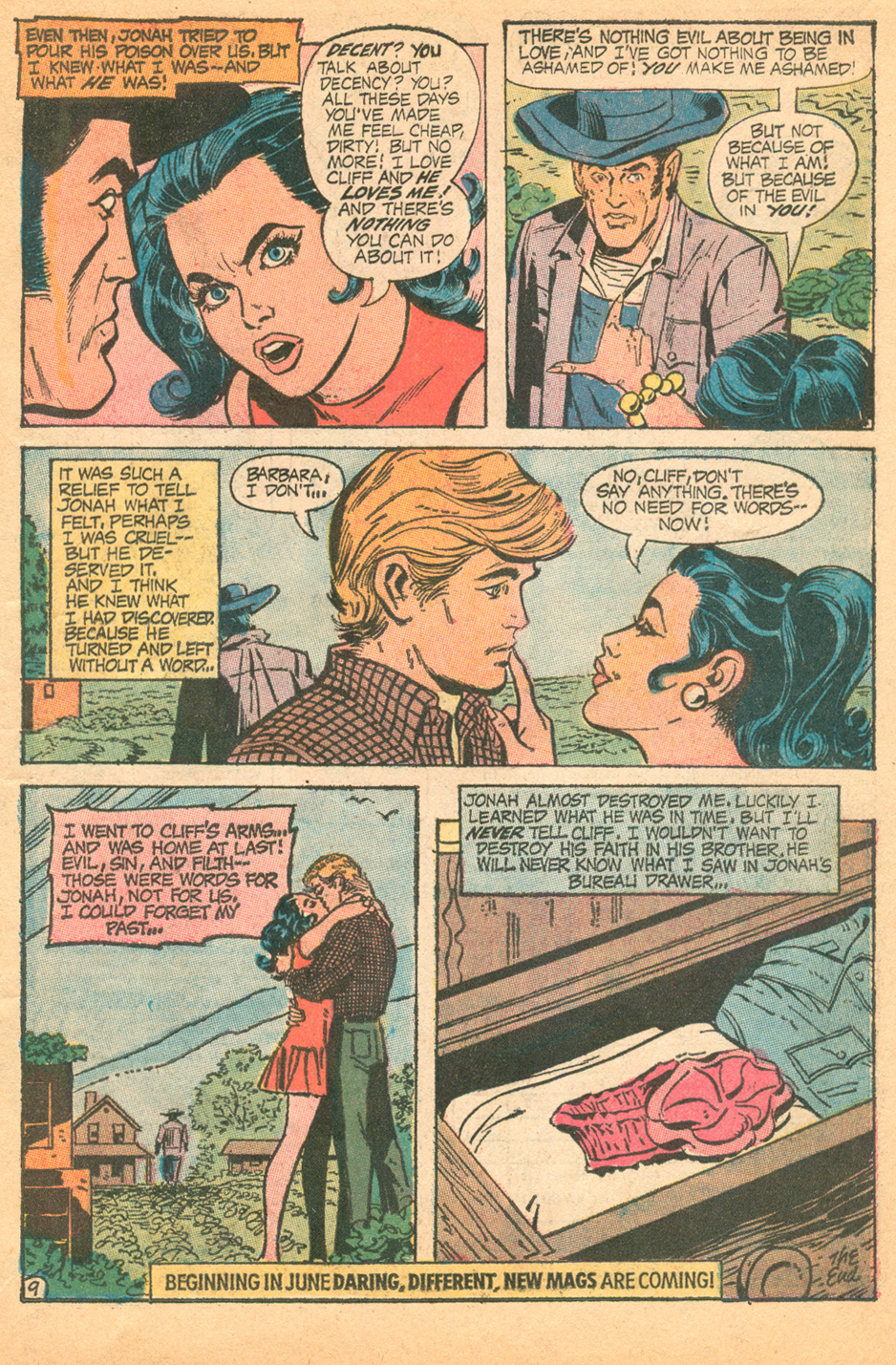 Cover by Bob Oksner Falling in Love #124 (July 1971) romance comic book sequential crush