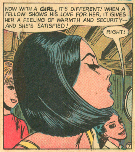 """Love 'Em and Leave 'Em!"" Pencils: Tony Abruzzo Girls' Romances #131 (March 1968)"