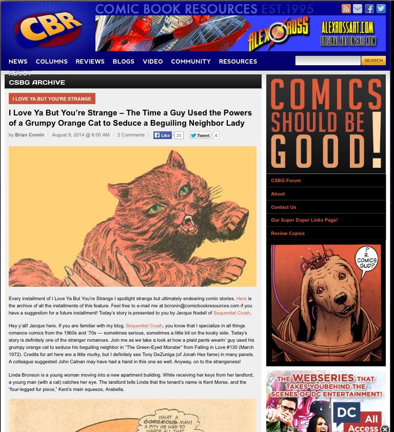 Jacque Nodell romance comic books Comic book resources cbr