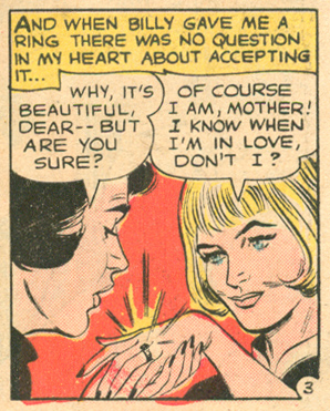 """He Laughed at My Tears!""  Heart Throbs  #98 (October/November 1965)"