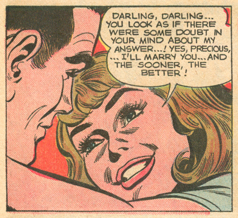 """Too Much in Love!""  Young Love  #54 (March/April 1966) Pencils and Inks: John Romita"