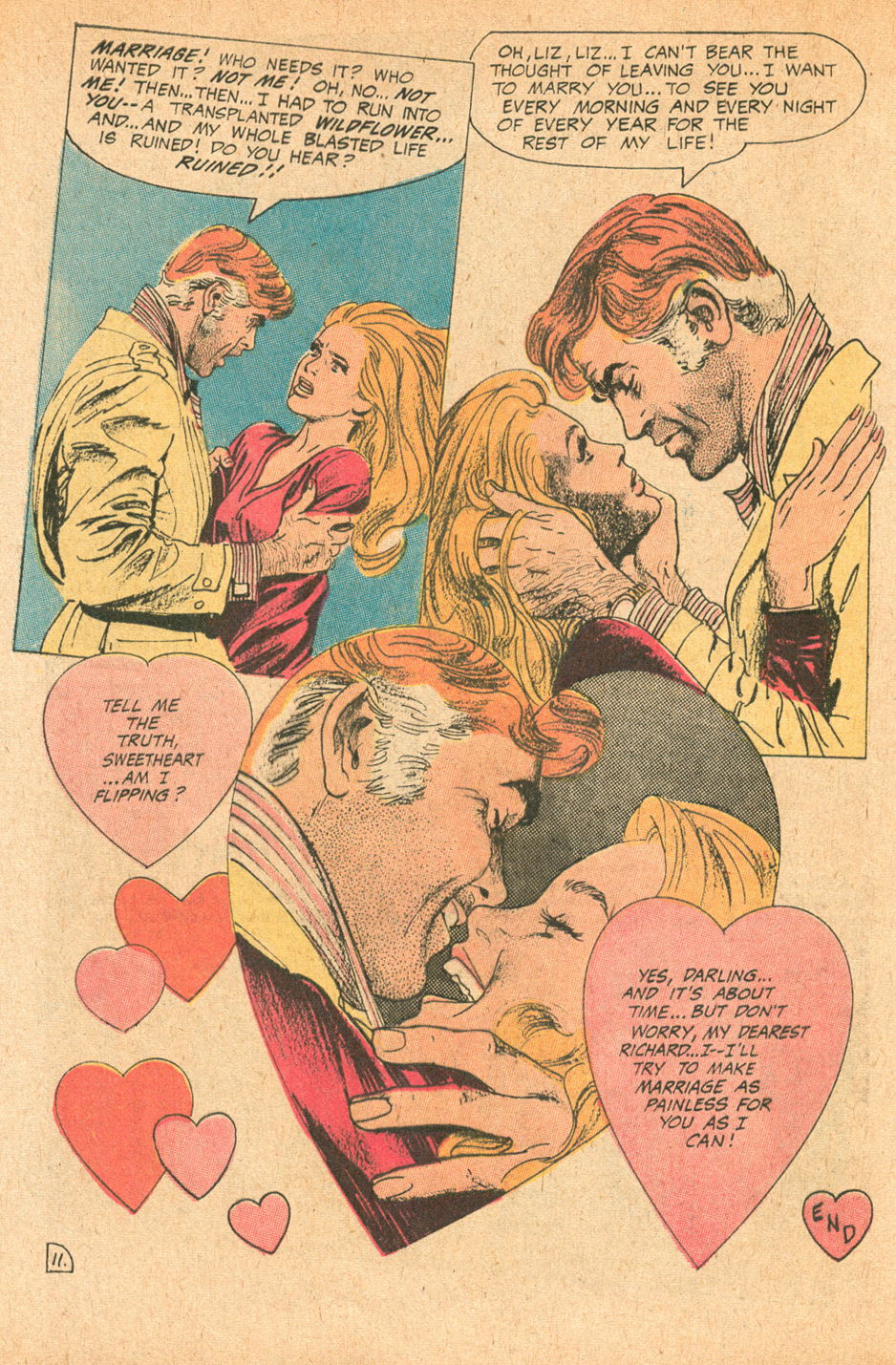 Young Love #180 Gray Morrow romance comic book story sequential crush
