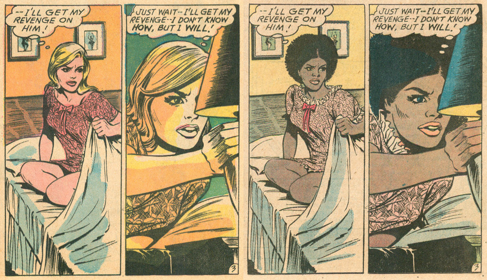 Romance comic book stories recolored for diversity DC comics 1970s african american characters