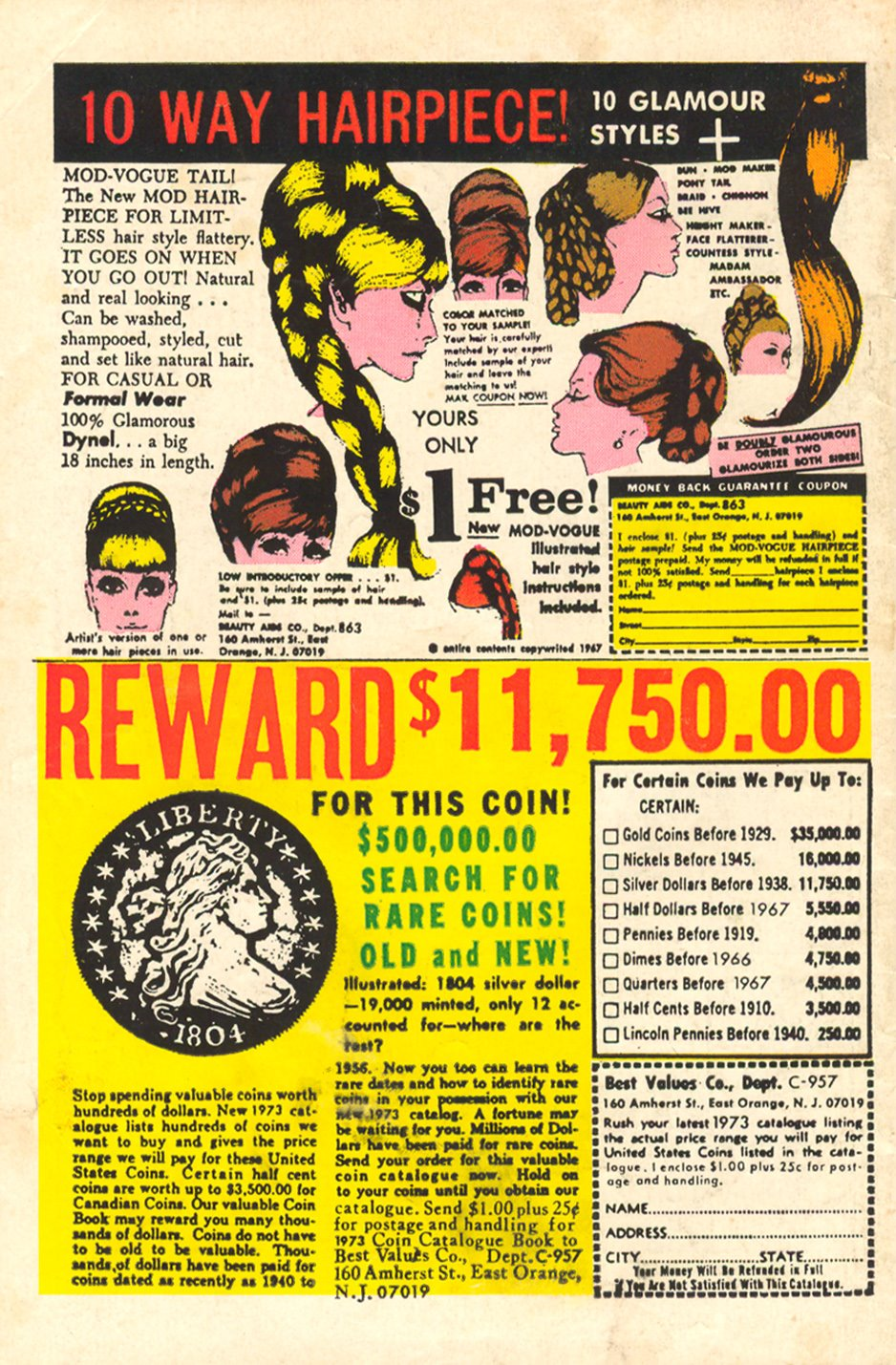 10 way Hairpiece advertisement 1960s