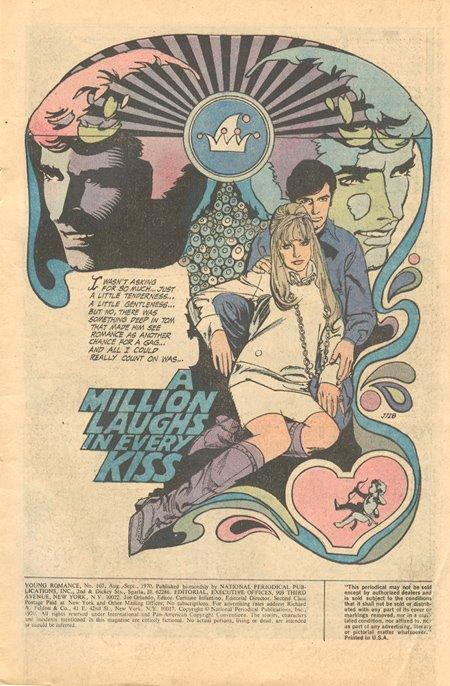 Tony DeZuniga romance story Young Romance DC Comics