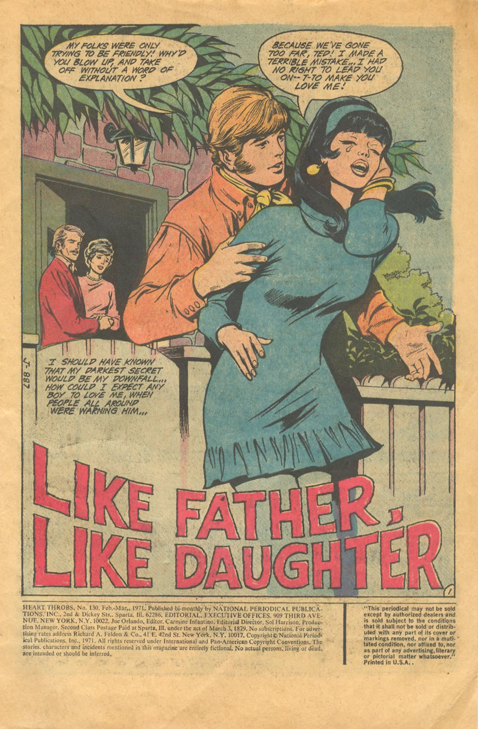 Heart Throbs DC Romance Comics Like Father Like Daughter