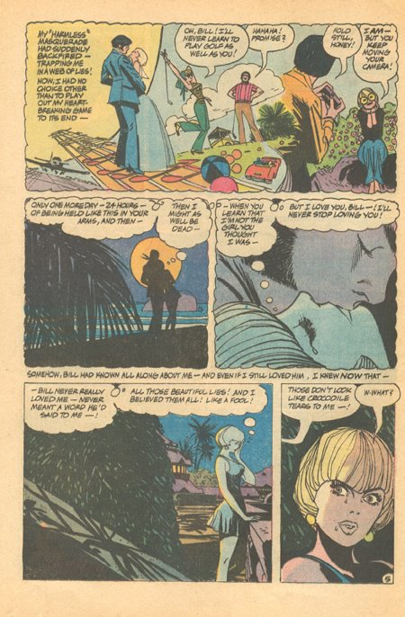 Alex Toth's creative genius is evident even in his romance work. Secret Hearts #143 (April 1970)