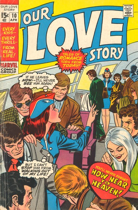 Our Love Story  #10 (April 1971) Stan Lee Gene Colan Vince Colletta