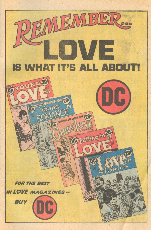 DC Comics House Ad from 1973 romance comics